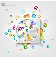 Application buttonsocial mediacloud computing vector