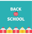 Pencil frame back to school card flat design vector