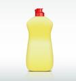 Plastic bottle of detergent vector