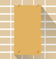 Old paper on wall vector