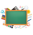 Desing back to school with green desk vector
