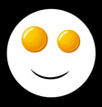 smile fried egg vector