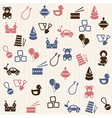 Toy seamless pattern vector