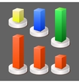 Modern abstract 3d chart infographic color vector
