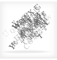 Abstract alphabet background sketch vector