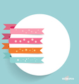Note papers with ribbons ready for your message vector