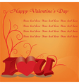 Happy valentines day cards with ornaments hearts vector