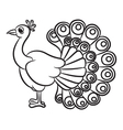 Peacock outlined vector