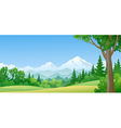 Mountain forest vector
