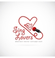 Sing lovers abstract symbol icon vector