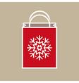 Christmas holiday gift bag vector
