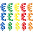 Currency symbols vector
