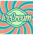 Retro ice cream template vintage background vector