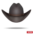 Black cowboy hat  isolated on white background vector