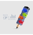 Modern pencil infographics vector