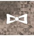 Bow tie icontriangle background vector