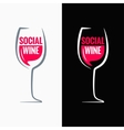 Wine glass social media concept background vector