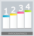Modern infographic colorful design template vector
