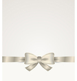 Silver ribbon with bow vector