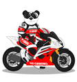 Panda lifestyle motorcycle vector