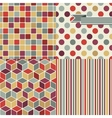 Retro seamless pattern set vector