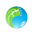 Eco footprint in tai chi form vector