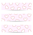 Valentine seamless banners vector