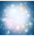Winter background with snowflakes abstract winter vector