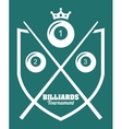 Billiard tournament design vector