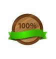 100 green wooden badge vector