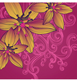Floral background with flowers and swirls vector
