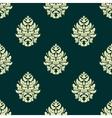 Floral light green damask seamless pattern vector
