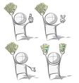 Simple people money vector