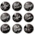 Sale buttons black vector