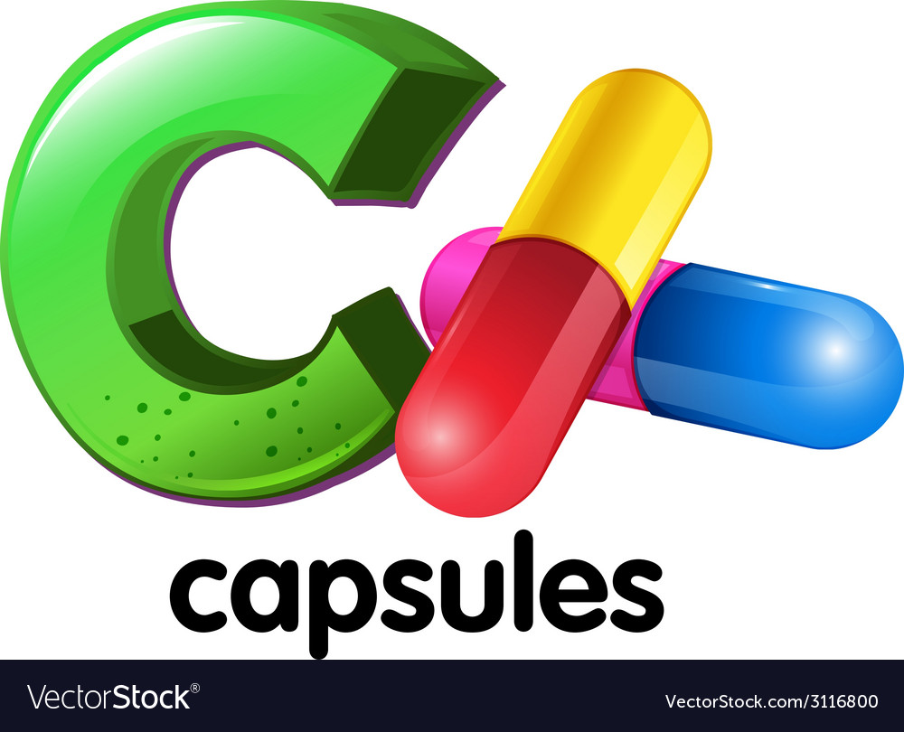 A letter c for capsules vector | Price: 1 Credit (USD $1)