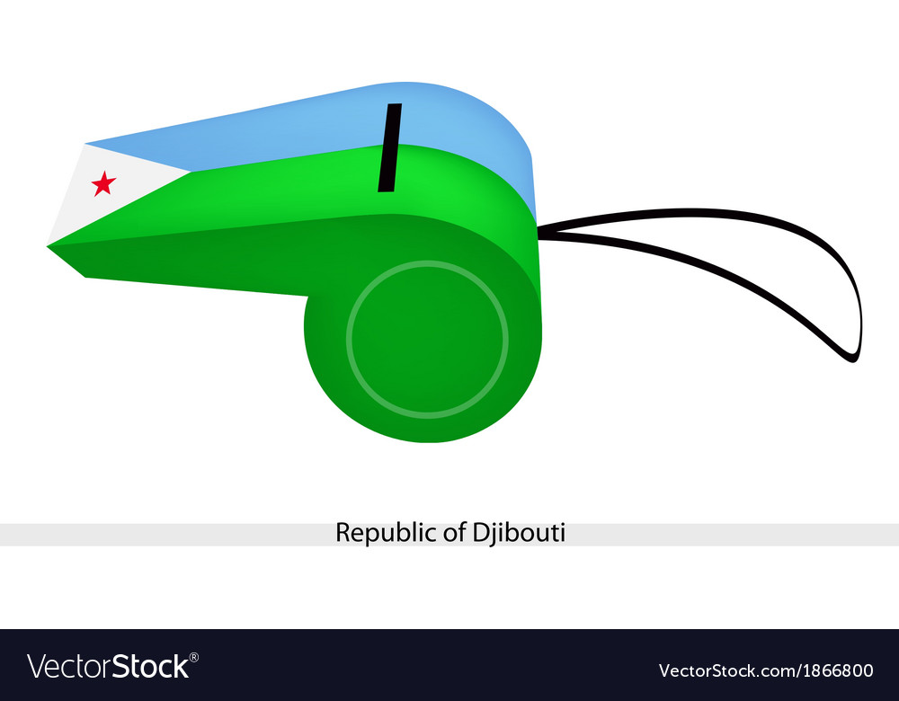 A whistle of the republic of djibouti vector | Price: 1 Credit (USD $1)