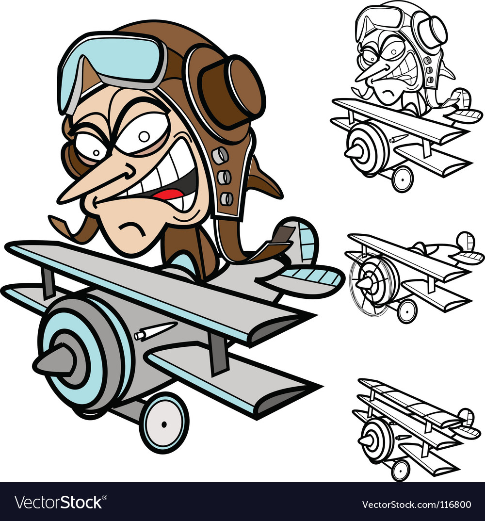 Airplane guy vector | Price: 1 Credit (USD $1)