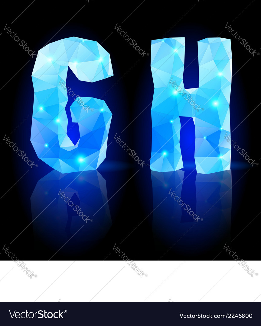 Blue polygonal font vector | Price: 1 Credit (USD $1)