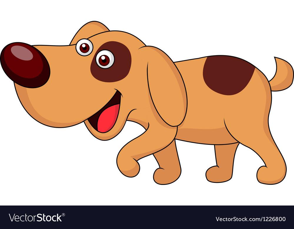 Cute puppy cartoon vector | Price: 3 Credit (USD $3)