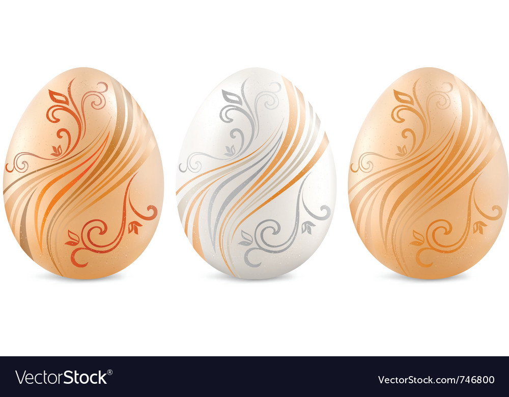Easter eggs painted vector | Price: 1 Credit (USD $1)