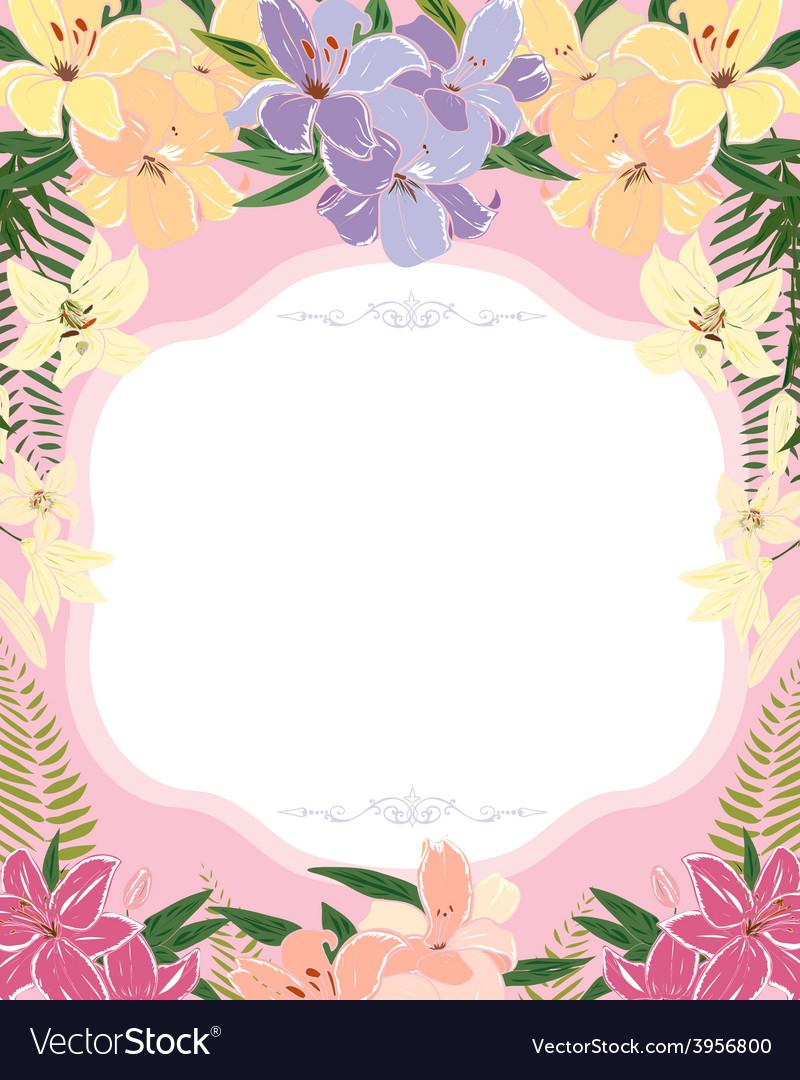 Floral invitation design vector | Price: 1 Credit (USD $1)
