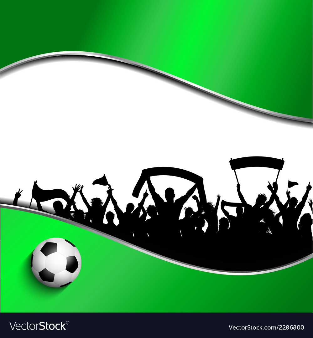 Football or soccer crowd background vector | Price: 1 Credit (USD $1)
