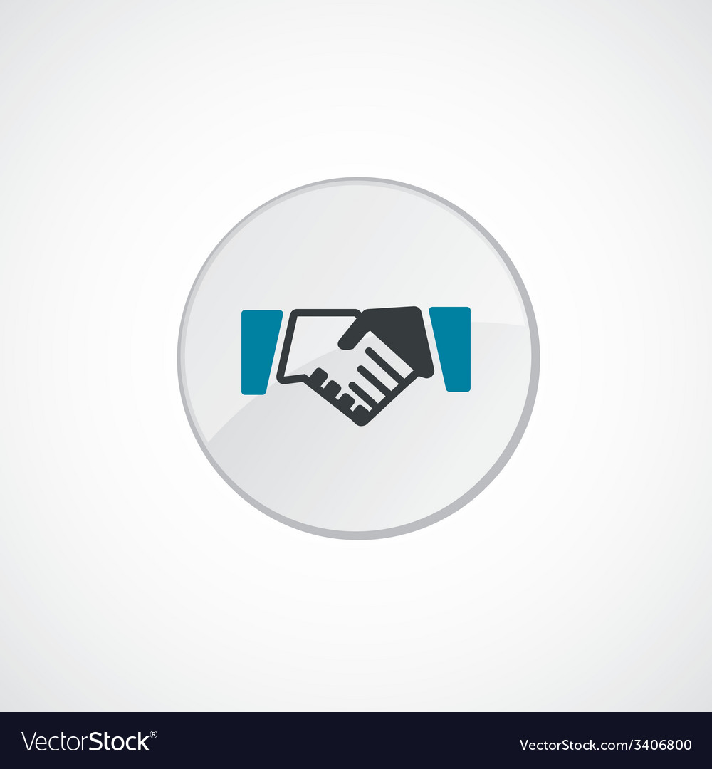 Handshake icon 2 colored vector | Price: 1 Credit (USD $1)