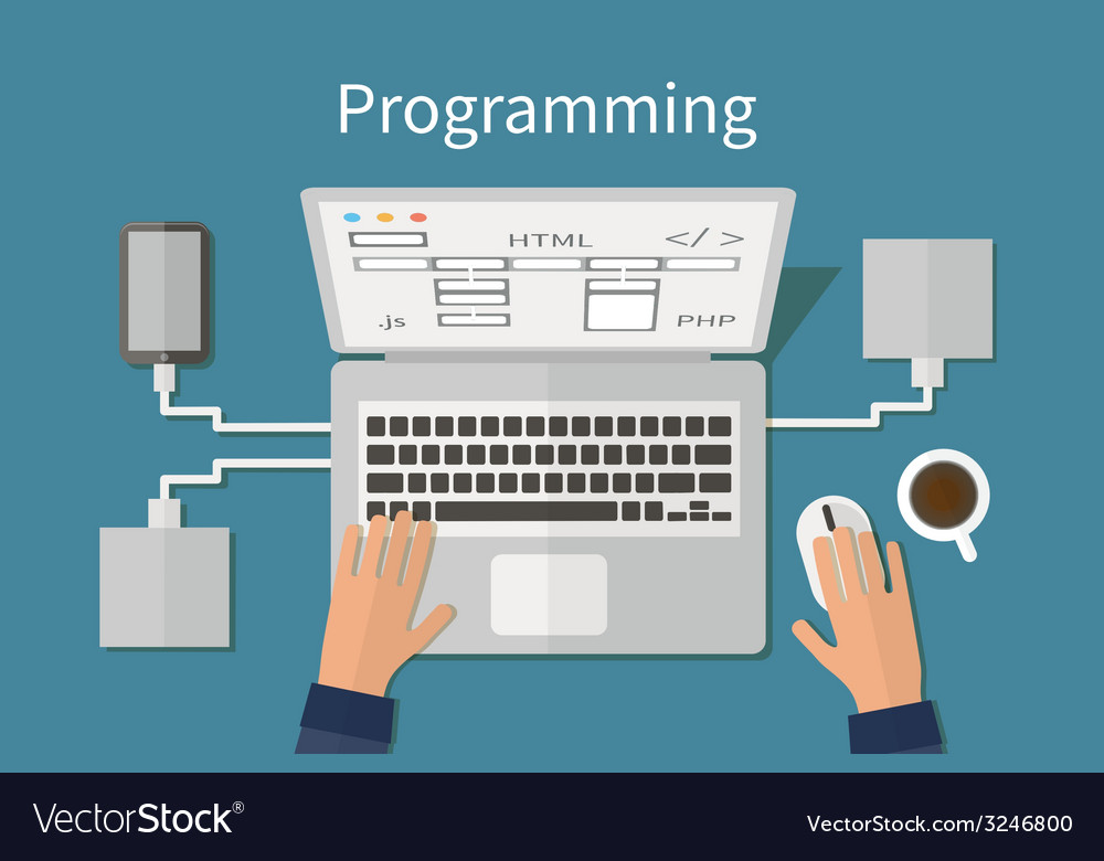 Programming and coding website deveopment web vector | Price: 1 Credit (USD $1)