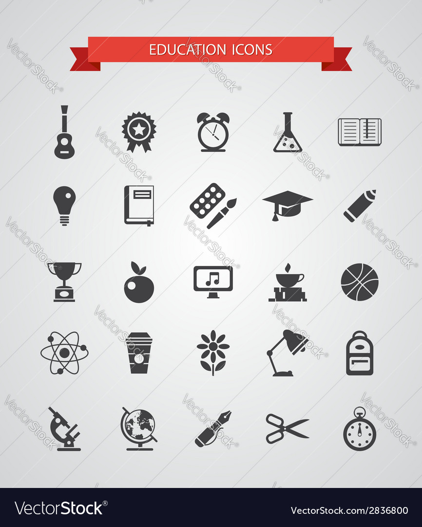 Set of flat design icons vector | Price: 1 Credit (USD $1)