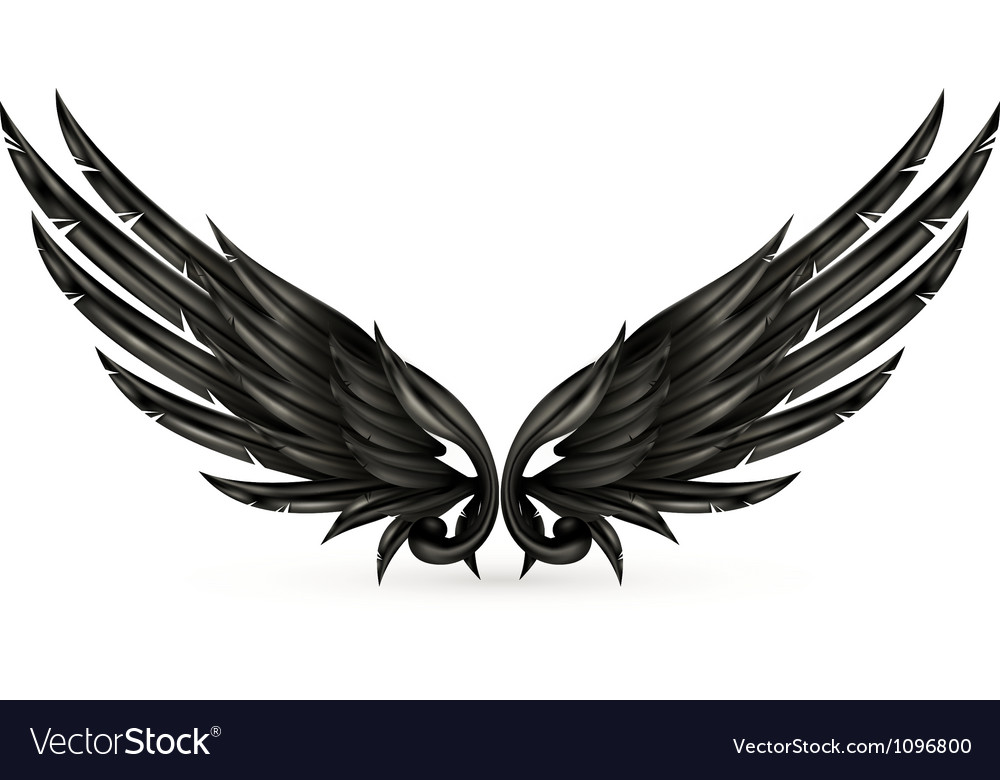 Wings black vector | Price: 1 Credit (USD $1)