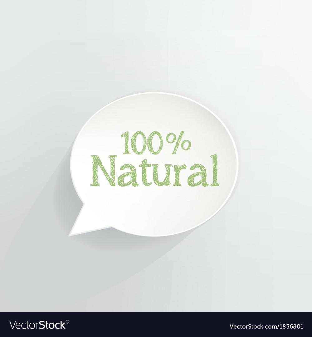 100 percent natural vector | Price: 1 Credit (USD $1)