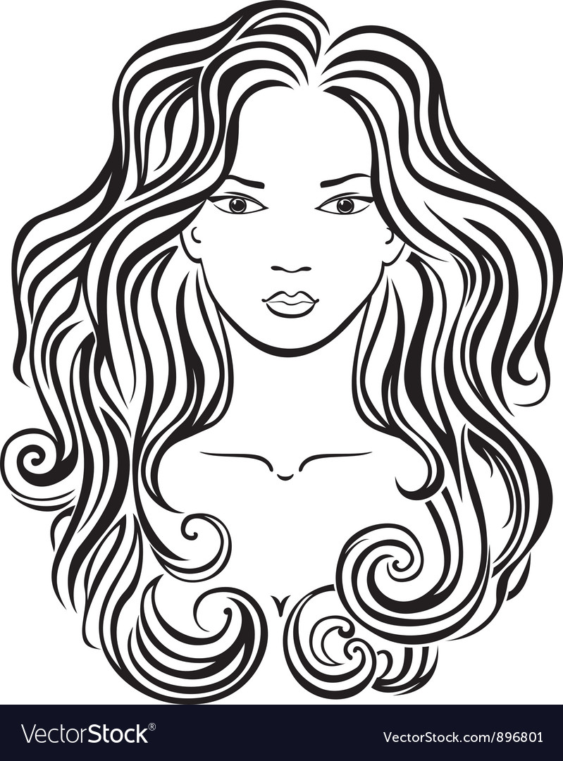 Beautiful girls face vector | Price: 1 Credit (USD $1)