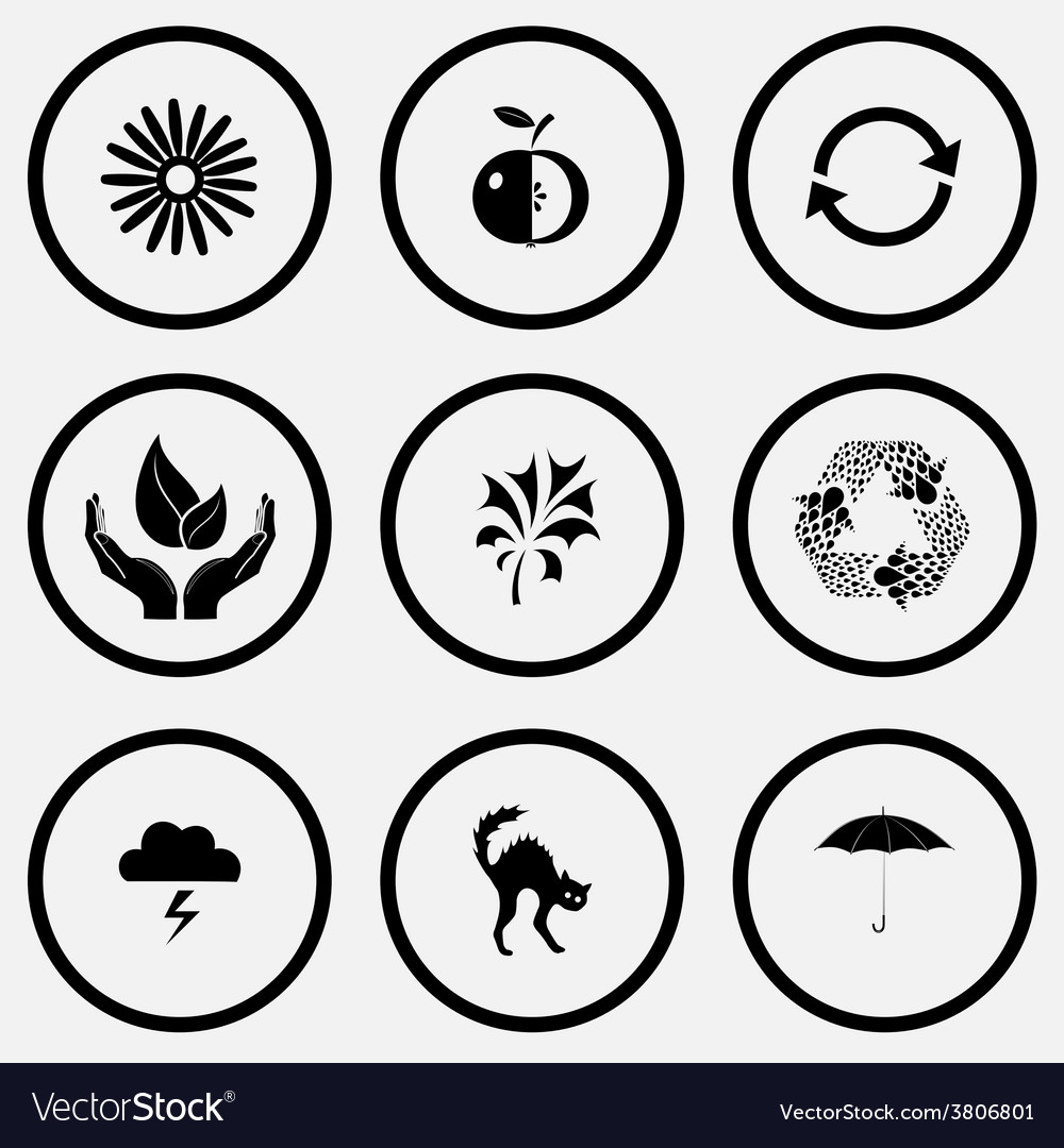 Camomile apple recycle symbol life in hands vector | Price: 1 Credit (USD $1)