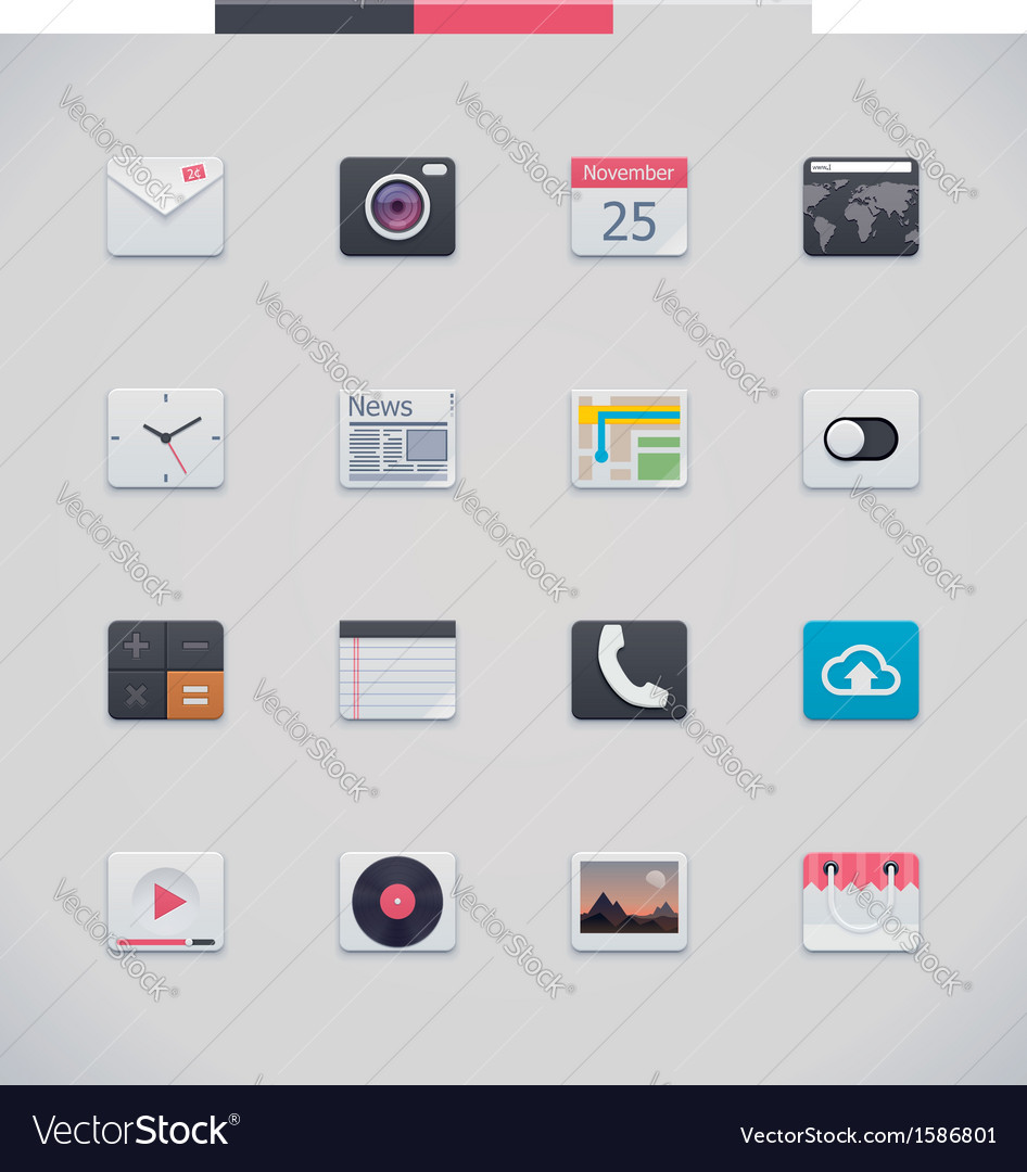 Generic ui icons vector | Price: 1 Credit (USD $1)
